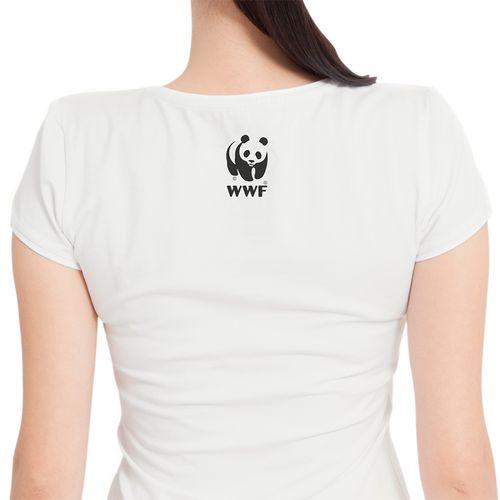 Camiseta WWF Conectado no Planeta Baby Look - off-white