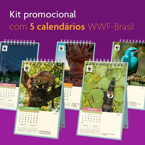 Calendário 2021 - WWF-Brasil (KIT PROMOCIONAL COM  5 UNIDADES)