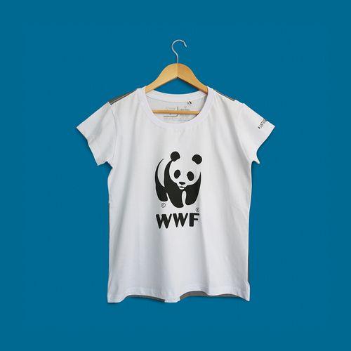 Camiseta Panda WWF - Gola Olimpica - Baby Look
