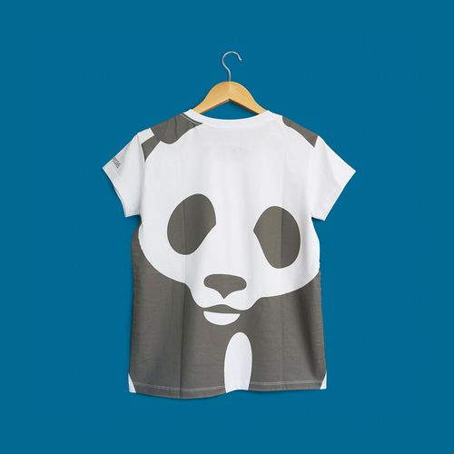 Camiseta Panda WWF - Gola V - Baby Look