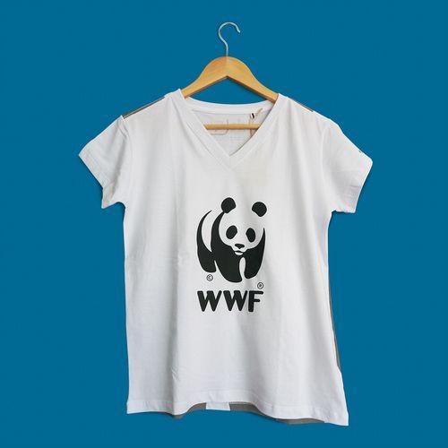 Camiseta Panda WWF - Gola V - Regular