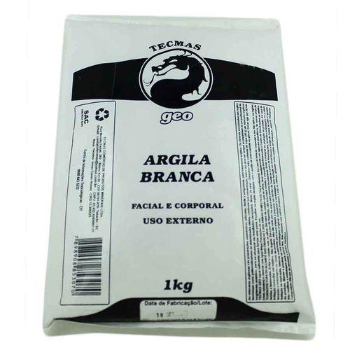 Argila Branca 1kg Tecmas