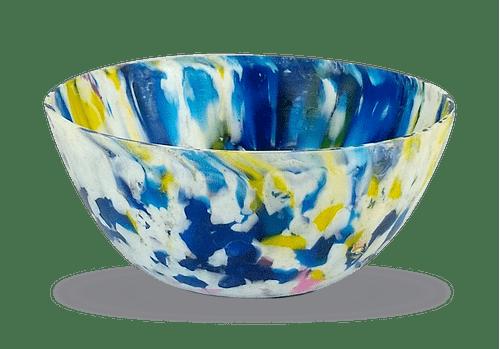 Vaso Ribeirão - plástico 100% reciclado -  Azul / Branco