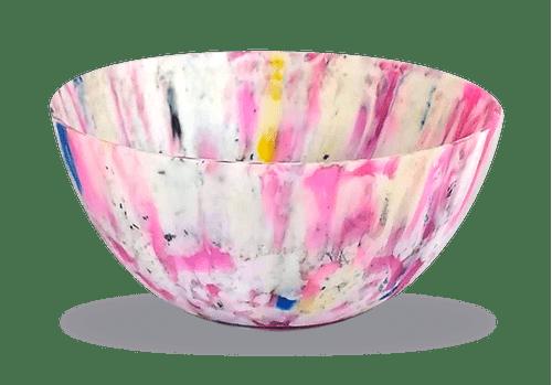 Vaso Ribeirão - plástico 100% reciclado - Rosa / Branco