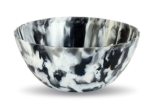 Vaso Ribeirão - plástico 100% reciclado - Preto / Branco