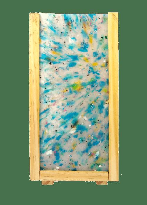 Luminária Peri com plástico 100% reciclado - Azul  Claro Único