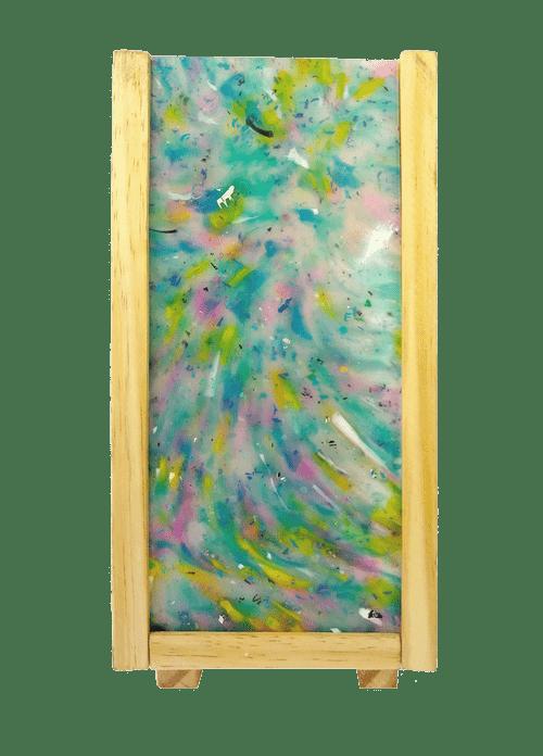 Luminária Peri com plástico 100% reciclado - Azul / Rosa Único