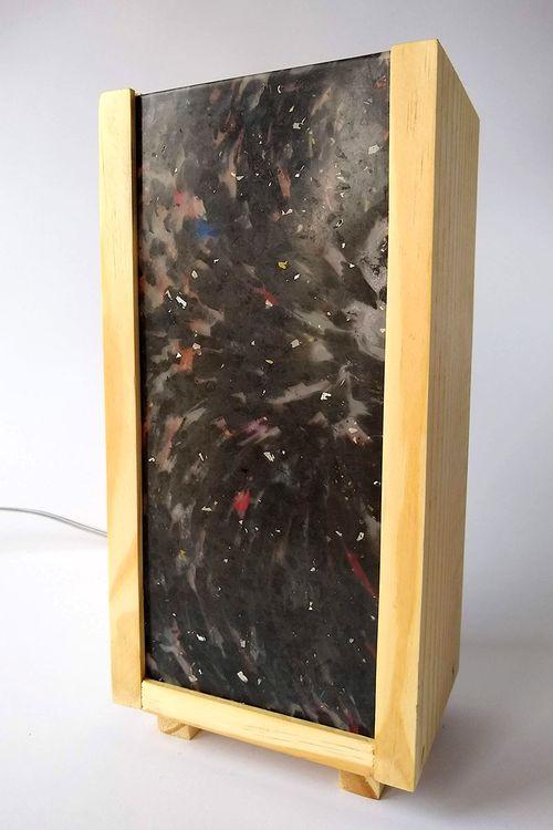 Luminária Peri com plástico 100% reciclado - Preto Único