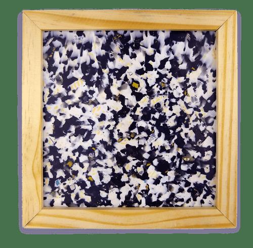 Quadro Campeche com plástico 100% reciclado - Preto / Branco