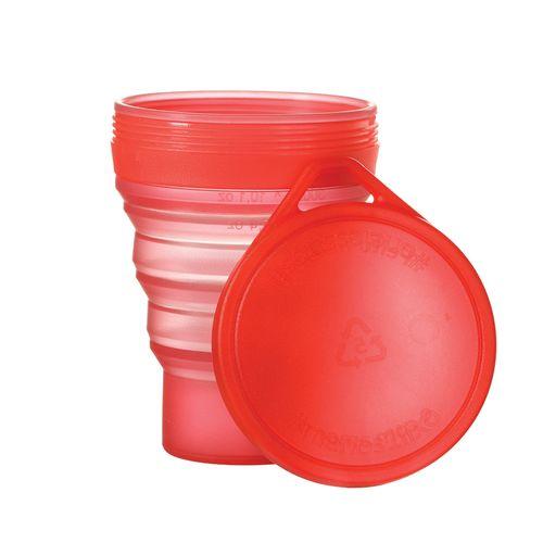 Copo Menos 1 Lixo Translucido Vermelho