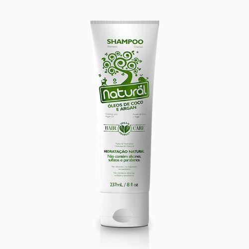 Shampoo Coco e Argan Orgânico Natural 237ml