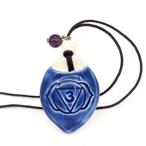 Colar Difusor Pessoal Sexto Chakra Ajna Azul Índigo BV Natural