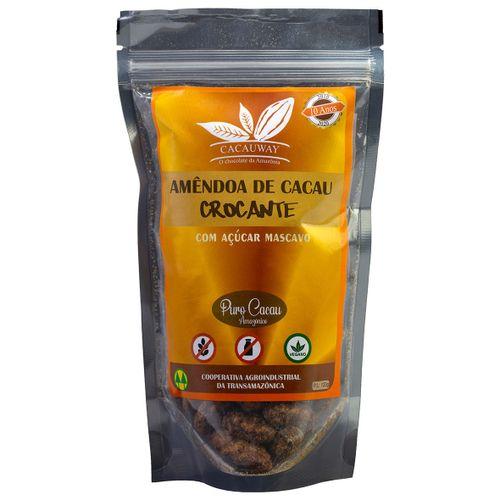 Amêndoa de Cacau Fino da Amazônia c Açúcar Mascavo 120g Cacauway