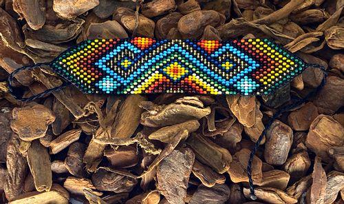 Pulseira Ingá - M - Miçanga de vidro - Colorido - 09